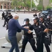 'An Antifa provocateur': Trump makes unfounded claims about 75-year-old protester who was hospitalised by police