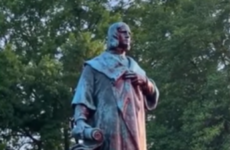 Virginia statue of Christopher Columbus is torn down, set on fire and thrown into lake