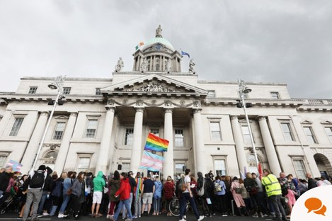 A 2018 trans rights march in Dublin