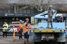New Zealand city removes statue of British naval officer John Hamilton