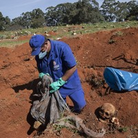 Brazil digs up bones to make space in graveyards for Covid-19 victims as death toll hits almost 42,000
