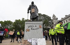 Winston Churchill's grandson says 'society has lost its compass' after statue defaced this week