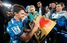 Blues introduce Barrett to 43,000 crowd with impressive Super Rugby win