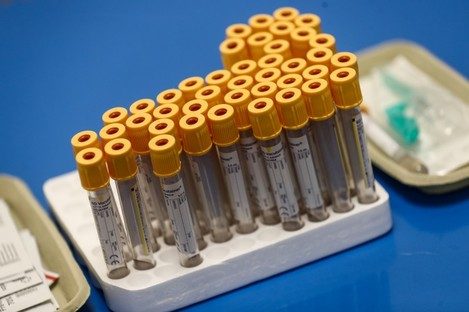 Test tubes to be used for blood samples (file photo)