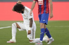 Marcelo takes knee as Real Madrid return with win