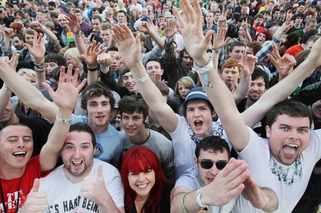 Crowds at the Stone Roses concert in Dublin's Phoenix Park on Thursday