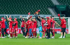 Red card for teenage star yet Bayern Munich still win to clinch eighth straight Bundesliga title
