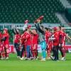 Red card for teenage star yet Bayern Munich still win to clinch eighth straight Bundesliga title