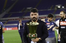 'There's a God of football,' says Gattuso as Napoli land sixth Italian Cup