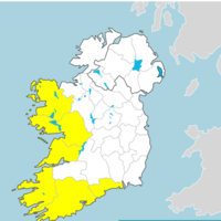 Status Yellow wind and rain warnings issued for western and southern counties