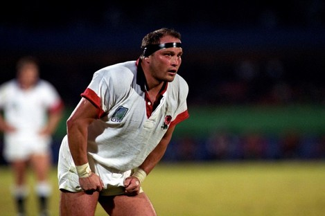 Brian Moore playing for England at the 1995 World Cup.