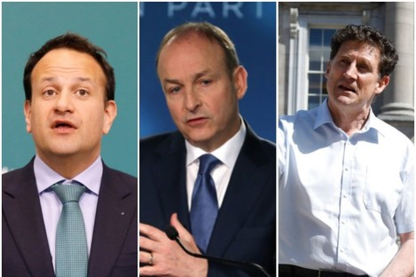 Leo Varadkar, Michéal Martin and Eamon Ryan