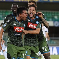 Headers help Napoli keep up Champions League chase