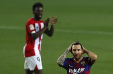 Messi still waiting on 700th goal as Rakitic seals Barca win over Bilbao