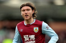 Burnley confirm departure of Irish international Jeff Hendrick