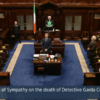 'A peacemaker and a rock of sense': TDs pay Dáil tribute and hold minute's silence for Garda Colm Horkan