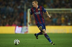 Ex-France and Barcelona defender injures knee Wednesday, retires Thursday