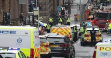Police in Glasgow say an incident in which a man was shot dead today is not being treated as terrorism