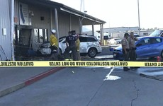 Two dead after man drives into Walmart centre in California and begins shooting