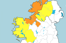 Status orange rainfall warning in place for three counties in the north west today