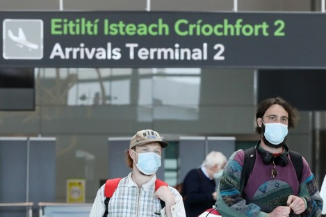 File photo of people arriving at Dublin Airport in May.
