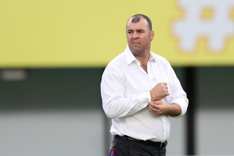 Michael Cheika before Australia's World Cup Pool D game with Wales last year.