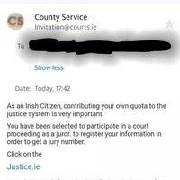 Gardaí warn the public about a fake jury duty scam