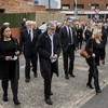 Mary Lou McDonald and Gerry Adams join crowds at funeral of senior republican Bobby Storey