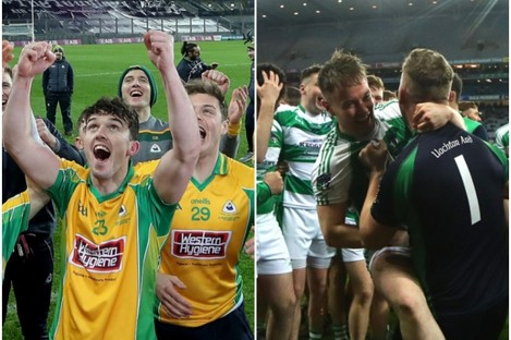 Corofin (L) and Oughterard (R) will meet in Group 4A of the Galway Senior Football Championship.