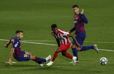 Messi scores 700th goal but Barca's title challenge wobbles again at home to Atletico
