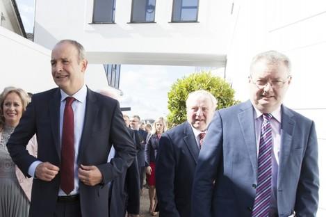 File photo of Micheál Martin and Michael Moynihan (right).