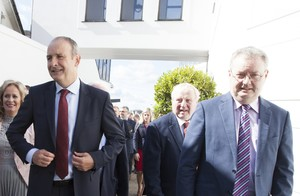 File photo of Micheál Martin and Michael Moynihan (right).