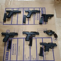 Seven guns seized by gardaí in west Dublin during ongoing investigations into criminal suspects