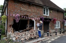English pub still to re-open for business today despite car crashing through it in the early hours