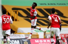 Arsenal stay in European race as Saka's first Premier League goal helps them past Wolves