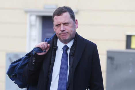 Barry Cowen before today's Cabinet meeting.