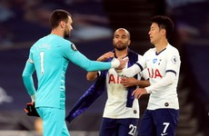 Son and Lloris bury hatchet after half-time row as Spurs beat Everton