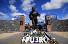 Everton assisting police with inquiries after lit flare left at statue of club hero