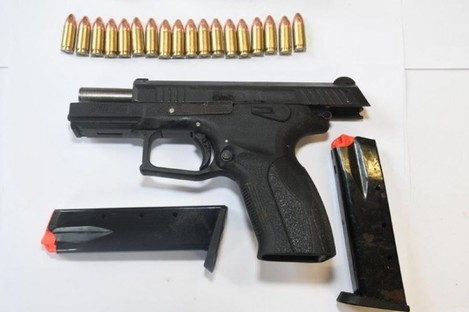 An image of the seized firearm