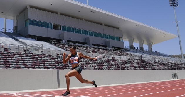 Felix impresses, Lyles finds a flaw in innovative multi-location athletics meet