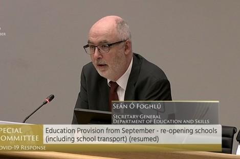 Secretary general of the Department of Education Seán Ó Foghlú.