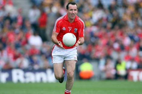 Kieran O'Connor in action for the Cork footballers.
