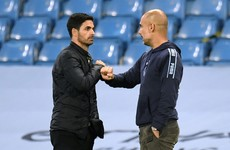 Pep Guardiola backs Mikel Arteta to lead Arsenal back to the top