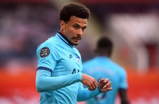 Dele Alli still out as Tottenham prepare to face Leicester