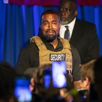 'Everybody that has a baby gets a million dollars': Kanye West holds first campaign rally