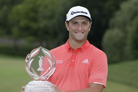 Rahm had a four-stroke lead heading into the final round.