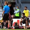 Leeds' title celebrations marred by serious knee injury to defender Berardi