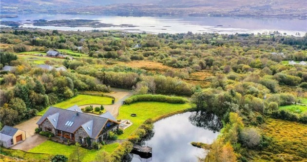 Light-filled luxury at this spectacular Ring of Kerry home with a private lake