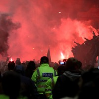 Nine arrested as thousands gather outside Anfield to celebrate Liverpool's Premier League win