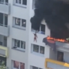 Two children survive three-storey drop during escape from apartment fire in France